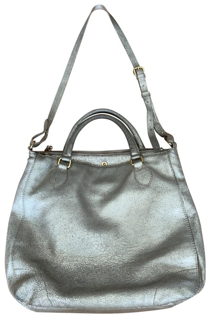 Item - Style 20317 with Handles and Neck Strap Metallic Soft Gold Leather Tote