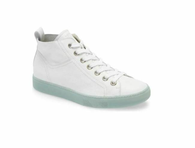 Item - White Charlie Leather Lace Up High Top Sneakers Size US 8 Regular (M, B)