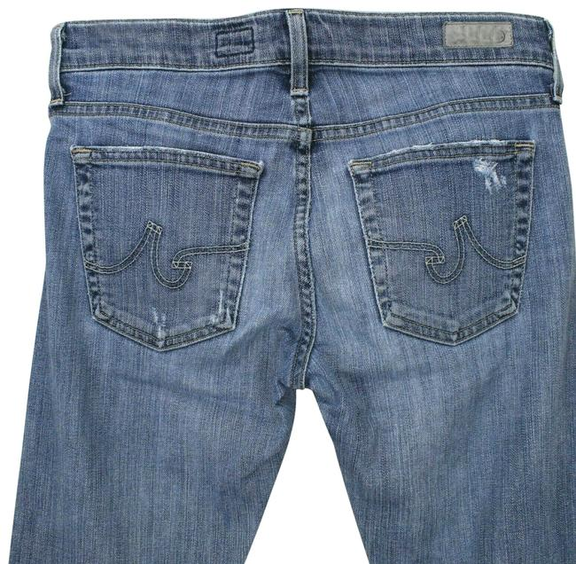 Item - Blue Light Wash Womens The Nolan Relaxed Slim Distressed Bw1150 Straight Leg Jeans Size 26 (2, XS)