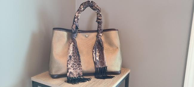 Item - Garden Party Gold/Brown Leather Tote