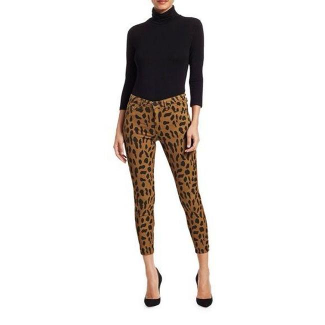 Item - Brown Margot High-rise Ankle Animal-print Skinny Jeans Size 25 (2, XS)