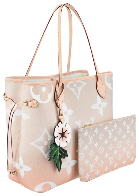 Item - Neverfull Bag Mm By The Pool Beach Degrade Beige Coated Canvas Tote