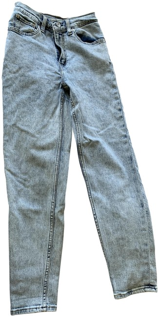 Item - Acid Blue Premium Light High Mom Relaxed Fit Jeans Size 24 (0, XS)