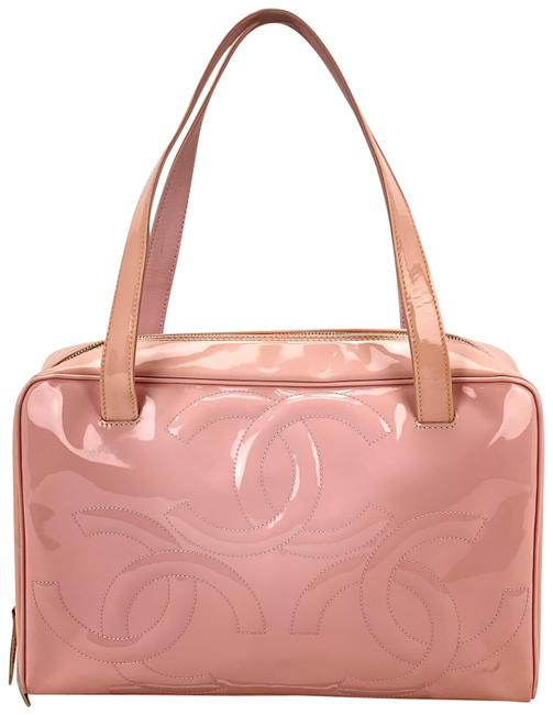 Item - Cc Logo Small B357 Pink Patent Leather Tote
