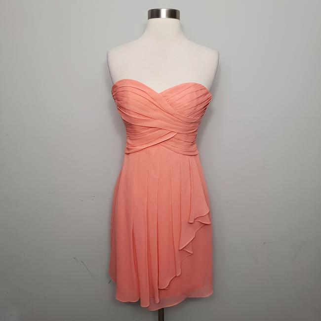 Item - Coral Reef Crinkle Chiffon with Cascade Front F14847 Short Formal Dress Size 0 (XS)