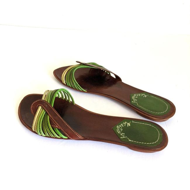 Miss Sixty Green Brown Strappy Leather Flip Flops Sandals Size EU 41 (Approx. US 11) Regular (M, B) Miss Sixty Green Brown Strappy Leather Flip Flops Sandals Size EU 41 (Approx. US 11) Regular (M, B) Image 3