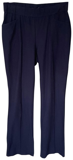 Item - Midnight Blue System Stretch Crepe Front Seam Pants Size Petite 4 (S)