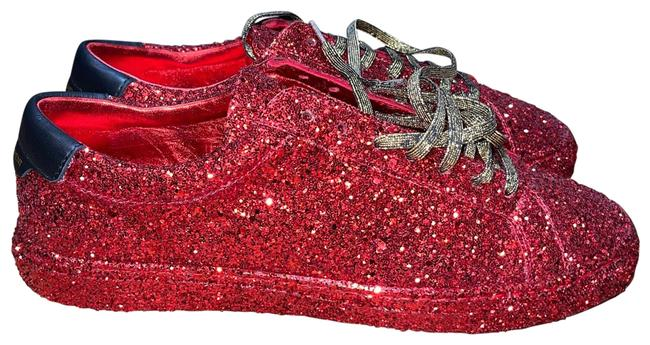 Item - Red Andy Glitter Sneakers Size EU 37 (Approx. US 7) Regular (M, B)