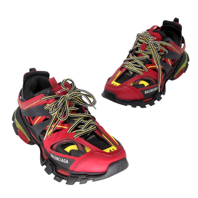 Item - Red And Yellow Tess S. Gomma Trek Chunk Hiking Dad Sneakers Size US 9 Regular (M, B)