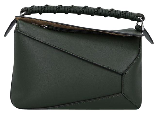 Item - Small Puzzle Edge In Smooth Green Leather Shoulder Bag