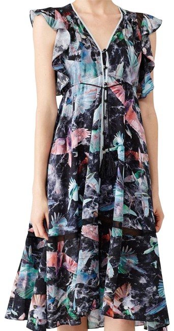 Item - Blue Printed Harrison Midi Floral Casual Maxi Dress Size OS (one size)