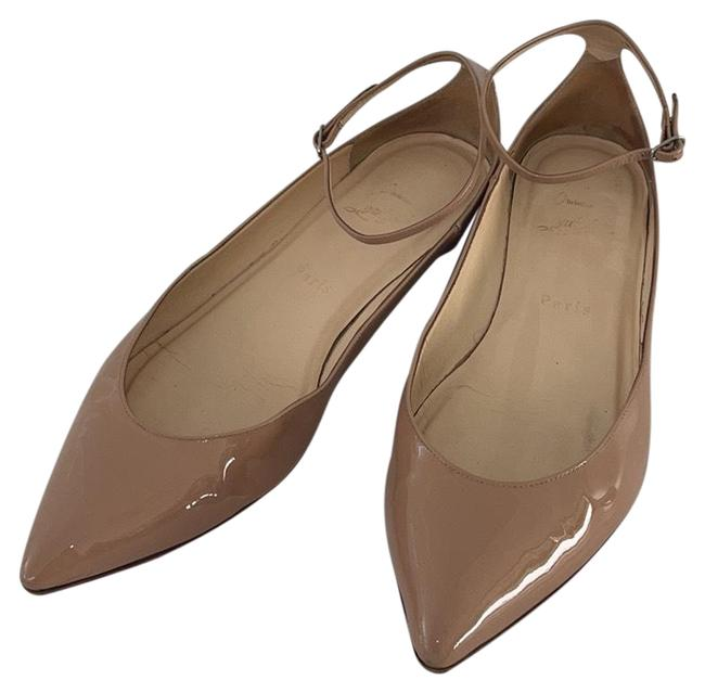 Item - Nude Patent Leather Pointy Flats Size EU 39.5 (Approx. US 9.5) Narrow (Aa, N)