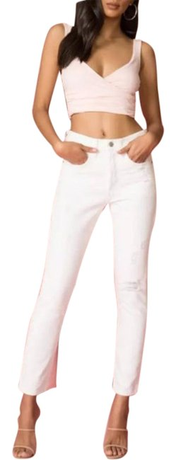 Item - White Light Wash 501 Destroyed Button Fly Skinny Jeans Size 29 (6, M)