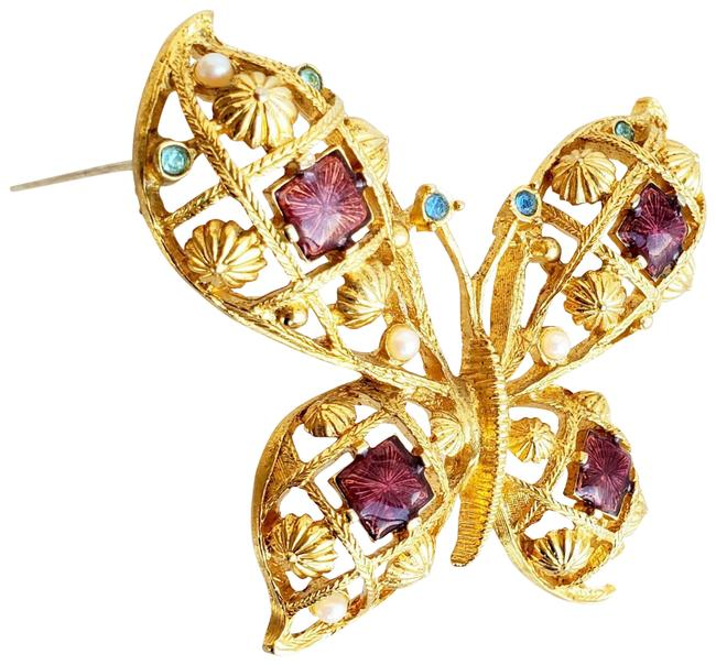 Item - Pink and Gold Renaissance Butterfly
