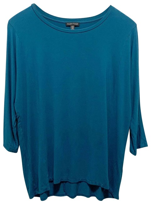 Item - Blue 3/4 Sleeve Small Blouse Size 6 (S)