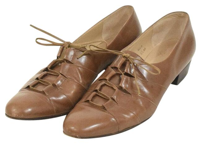 Item - Brown Leather Flats Size US 9.5 Narrow (Aa, N)