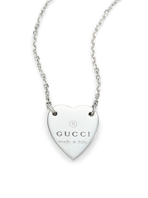 Item - Silver Sterling Signature Heart Pendant Necklace