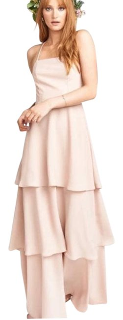 Item - Pink Calypso Strappy Tiered Maxi In Dusty Blush Long Formal Dress Size 6 (S)