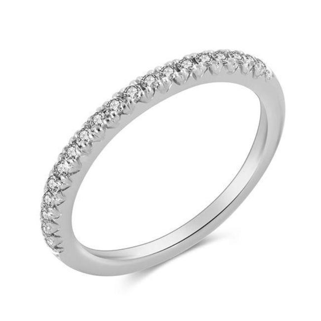 Item - White Gold Simple Stackable Women's Wedding Band