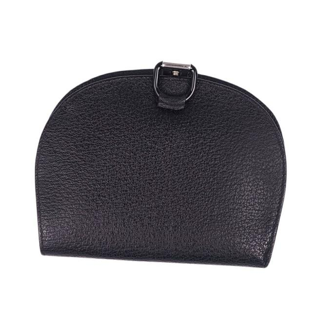 Item - Black Leather Folded Coin Purse Ladies Wallet