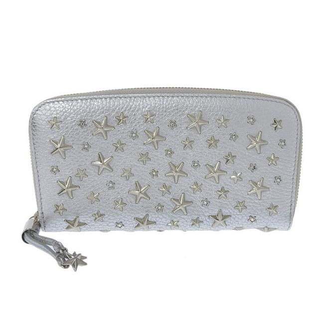 Item - Silver Round Purse Leather Studs Wallet