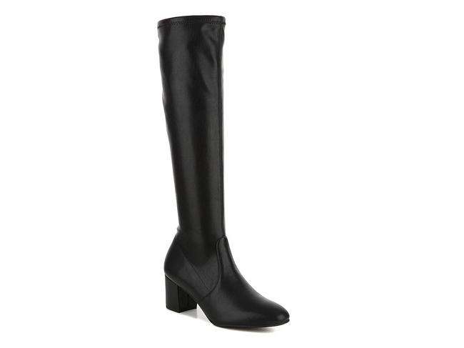 Item - Black Frannie 60 Stretch Leather Knee High Boots/Booties Size US 11 Regular (M, B)