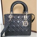 Dior Lady Christian Cannage Black Leather Tote Dior Lady Christian Cannage Black Leather Tote Image 4