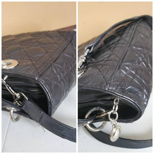 Dior Lady Christian Cannage Black Leather Tote Dior Lady Christian Cannage Black Leather Tote Image 8