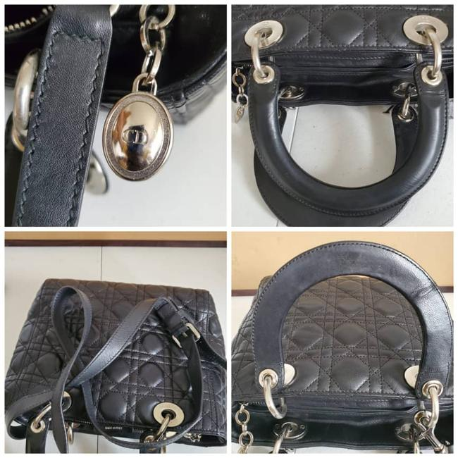 Dior Lady Christian Cannage Black Leather Tote Dior Lady Christian Cannage Black Leather Tote Image 9