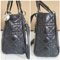 Dior Lady Christian Cannage Black Leather Tote Dior Lady Christian Cannage Black Leather Tote Image 10