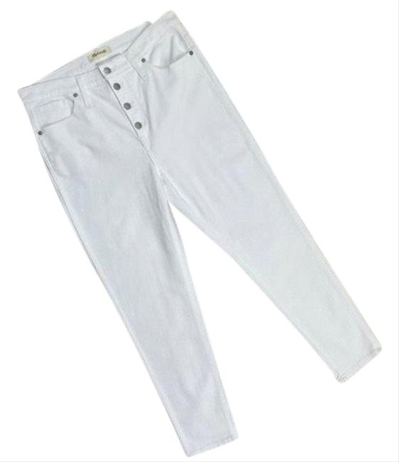 """Item - White 10"""" High-rise Crop Skinny Jeans Size 12 (L, 32, 33)"""