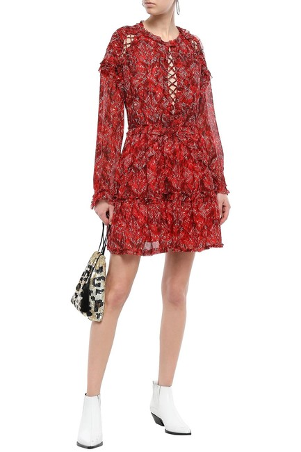 Item - Red Darling Long Sleeve Open Back Short Cocktail Dress Size 4 (S)