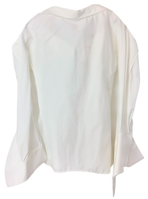 Item - White Courageous Exaggerated Cuff Shirt Blouse Size 2 (XS)