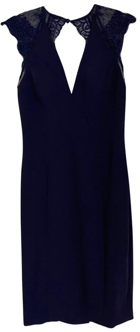 Item - Navy Mid-length Cocktail Dress Size 6 (S)