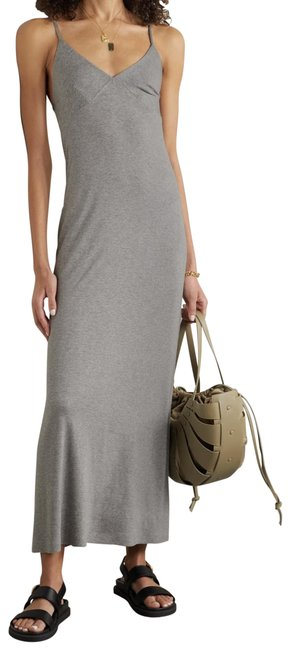 Item - Gray Jersey Stretch-jersey In Long Casual Maxi Dress Size 4 (S)