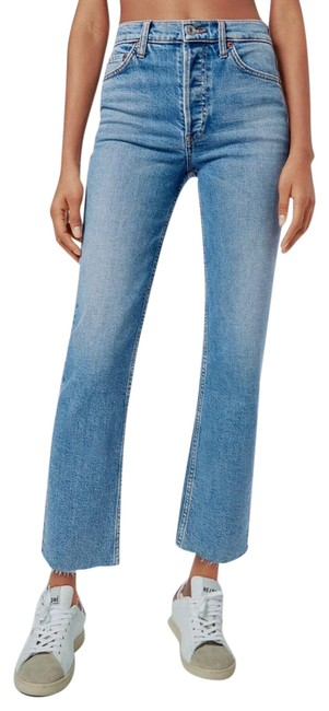 Item - Medium Stone Blue Wash Re/Done Comfort Stretch High Rise Pipe Straight Leg Jeans Size 10 (M, 31)