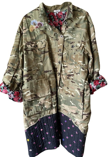 Item - Multicolor W W/ Floral Contrast Small Msrp 200 Jacket Size 6 (S)