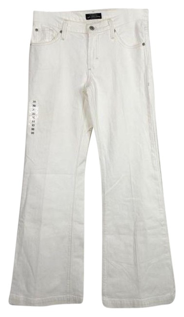 Item - White Robyn Wide Leg Boot Cut Jeans Size 30 (6, M)