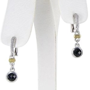 Judith Ripka Judith Ripka Stone By The Yard Earrings Black Onyx 18k Y Gold 925