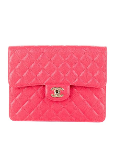 Item - Classic Pink Leather Clutch