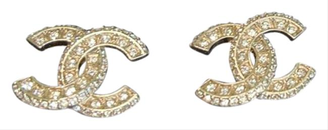 Item - Gold Cc Crystals Earrings