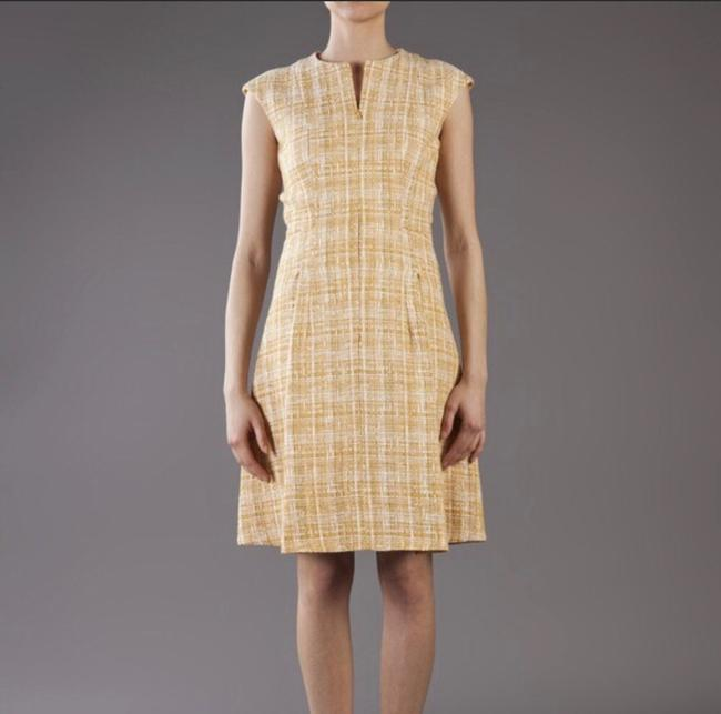 Item - Yellow 310534 Mid-length Cocktail Dress Size 10 (M)