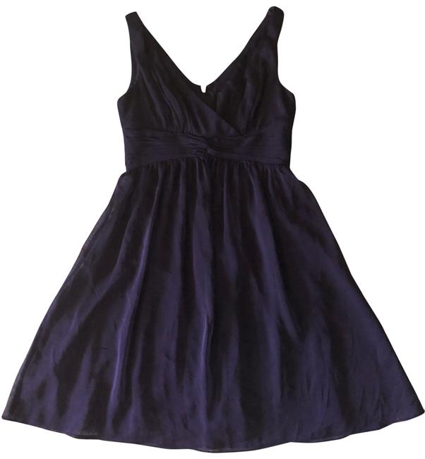Item - Purple Plum Flared Gathered Mid-length Cocktail Dress Size 6 (S)