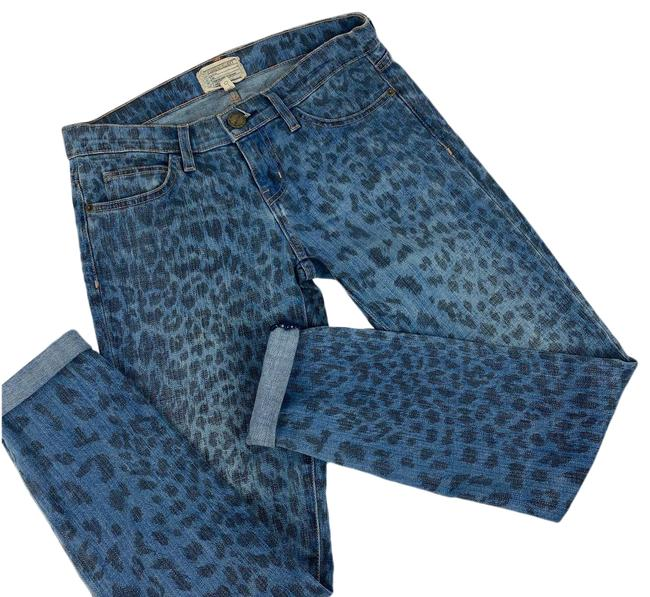 Item - Blue The Rolled Leopard Skinny Jeans Size 26 (2, XS)