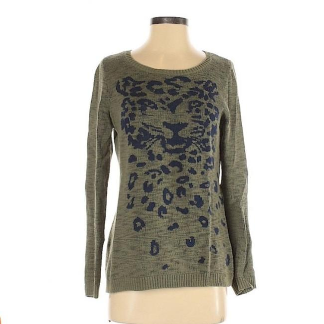 Item - And Leopard Black Green Sweater