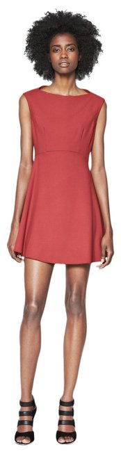 Item - Burgundy 71cxb - Feather Short Casual Dress Size 4 (S)