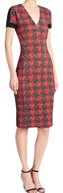 Item - Berries Houndstooth Mid-length Work/Office Dress Size 6 (S)