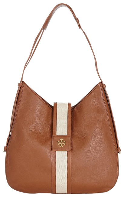 Item - Patty Pebbled Cognac Leather/Coated Canvas Hobo Bag