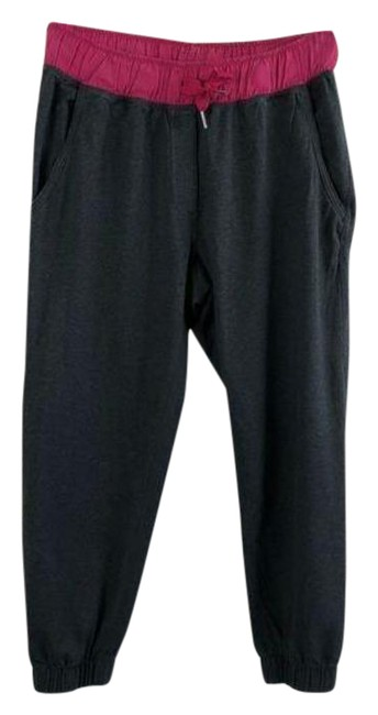 """Item - Gray Pink 24"""" Joggers Contrast Drawstring Activewear Bottoms Size 4 (S, 27)"""