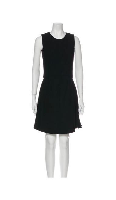 Item - Black Cc Logo Tweed Wool Fit and Flare A-line Short Casual Dress Size 6 (S)